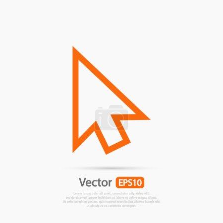 Illustration pour Icône du curseur, illustration vectorielle. style design plat - image libre de droit