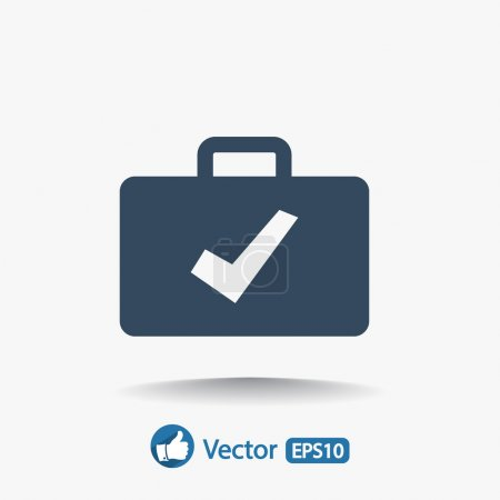 Illustration for Briefcase vector icon. Flat design style - Royalty Free Image