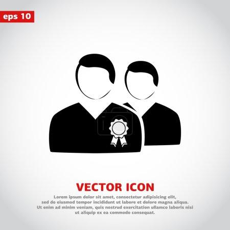 VIP icon, flat design