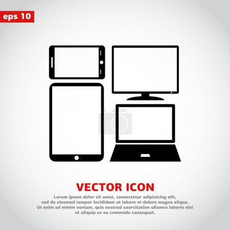 Set of electronic devices icon