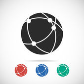 Global technology or social network icon