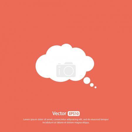 Illustration for Comic speech bubble icon, vector illustration. Flat design style - Royalty Free Image