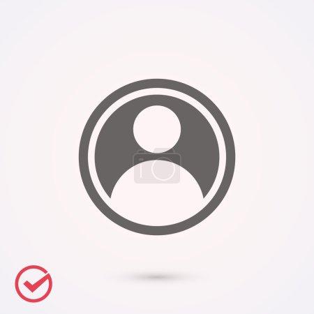 Flat design user icon