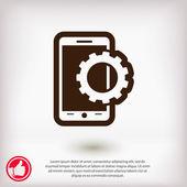 Smartphone nastavení parametrů ikona