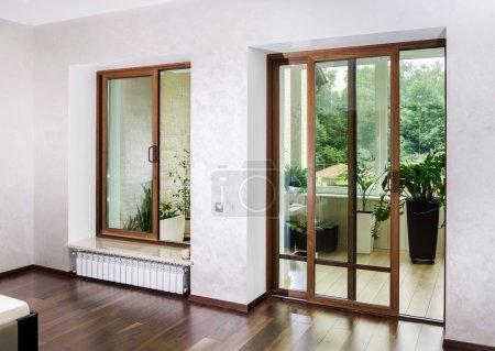 New sliding fiberglass doors for terrace