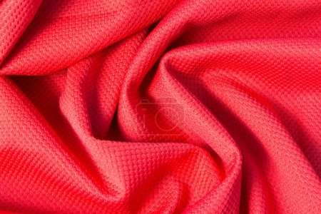 Texture of bright, cloth with pleats