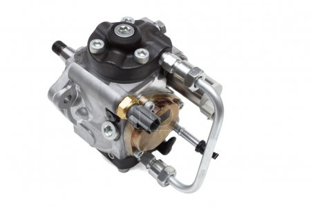 automotive fuel injection pump for diesel engines on a white