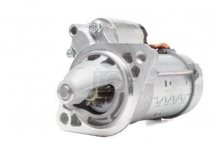 starter motor car on a white