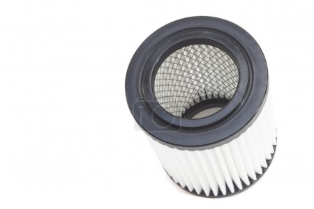 barrel engine air filter on a gray background
