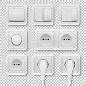 Vector power sockets and switches set