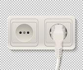Vector power socket with cable plugged