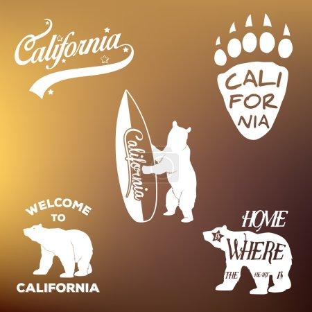 Vintage california republic t-shirt apparel fashion design and bear