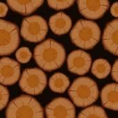 Wood log cuts seamless pattern background