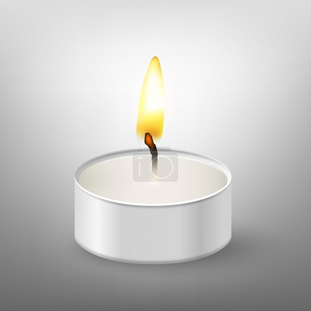Round candle.