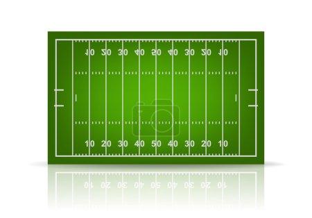 Vector football field
