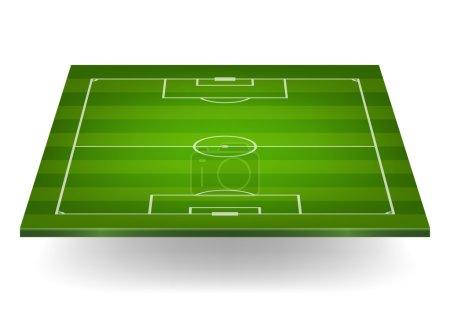 Striped soccer field