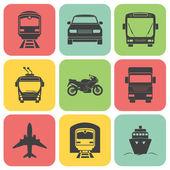 Simple transport icons set Vector EPS8 illustration