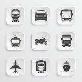 Simple transport icons set Vector EPS10 illustration