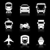 Simple transport icons set