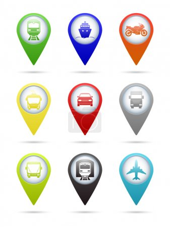 Photo for Set of round transport pointers. Vector EPS10 illustration - Royalty Free Image