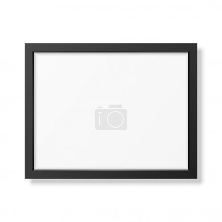Illustration for Realistic black frame A4 isolated on white. It can be used for presentations. Vector EPS10 illustration - Royalty Free Image