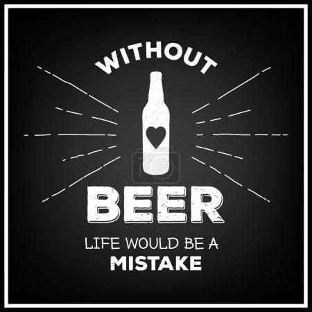 Quote Typographical Background. Vintage beer emblem, label, design element. Typography illustration.