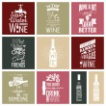 Set of vintage wine typographic quotes. Vector EPS...
