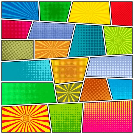 Illustration for Comic strip background. Pop-art style. Vector EPS10 illustration. - Royalty Free Image
