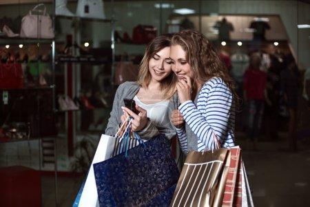 Fashion Shopping two ladies Portrait
