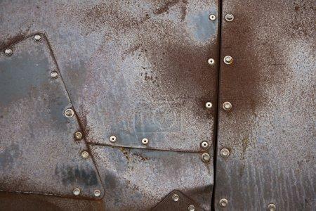 Photo pour Texture de plaque métallique - image libre de droit