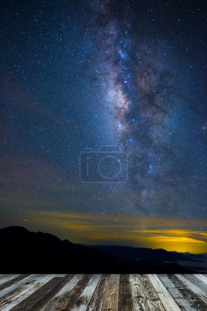 A section from the Milky Way and the Andromeda Galaxy