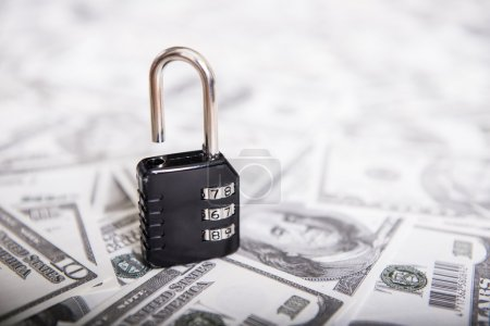 There is a lock, security deposits on banknotes