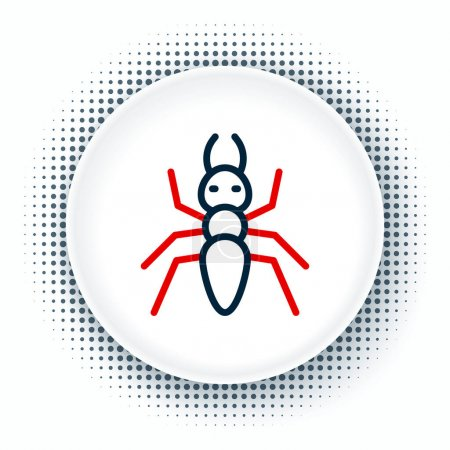 Illustration pour Line Ant icon isolated on white background. Colorful outline concept. Vector. - image libre de droit