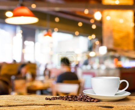 Photo for Coffee shop blur background with bokeh image . - Royalty Free Image