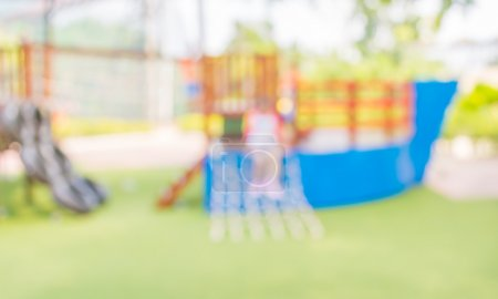 Photo for Defocused and blur image of children's playground at public park for background usage. - Royalty Free Image