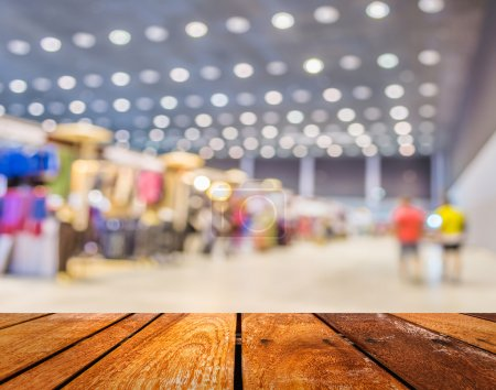 Photo for Blurred image of shopping mall and people for background usage . - Royalty Free Image