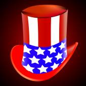 American hat on a red background