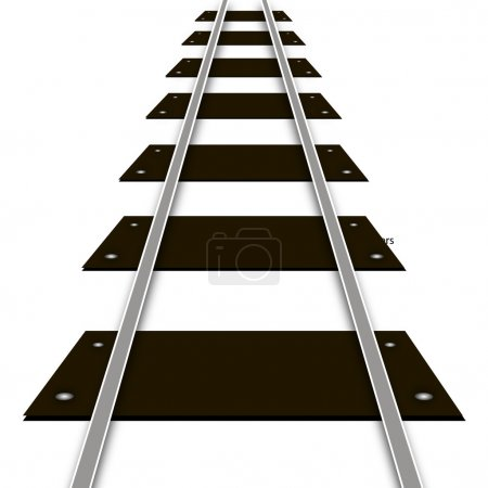 Illustration for Railway rails and sleepers, vector art illustration. - Royalty Free Image