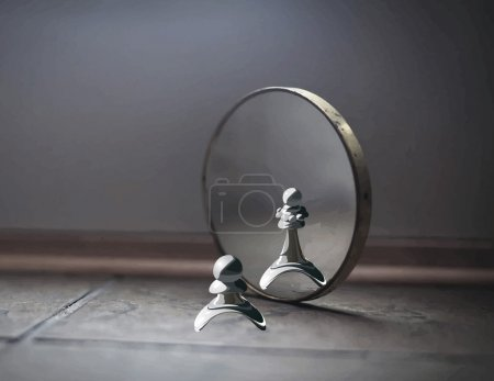 Pawn in the mirror