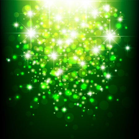 Illustration for Green background with bokeh. Green blurred background. Green lights. - Royalty Free Image