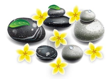 Spa stones flowers
