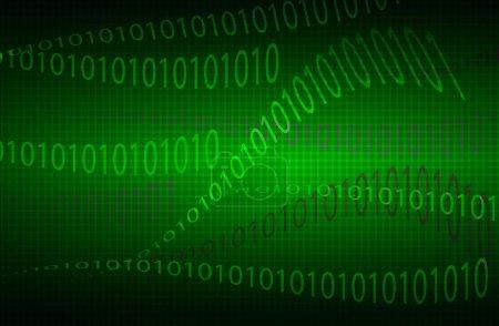 wavy background matrix of digits