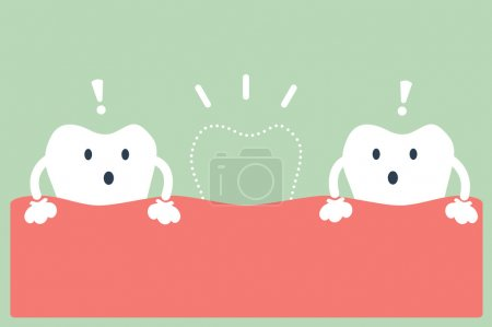 cartoon broken teeth