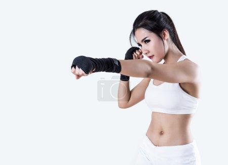 Beautiful Boxing Woman