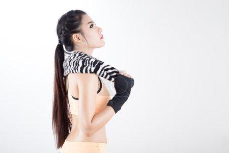 Beautiful asian Boxing woman