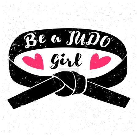 Be a judo girl logo