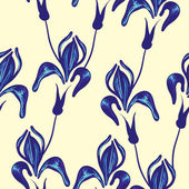 Seamless pattern with iris flower