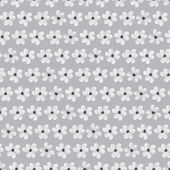 Flowers Seamless pattern with flowers in black and white colors