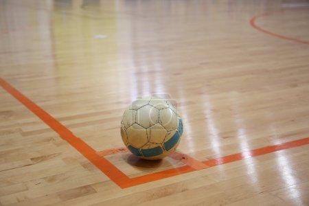 The futsal ball on the corner