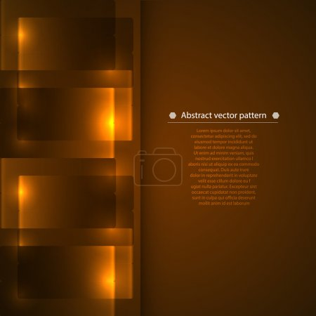 Illustration for Warm brown vertical vertical abstract geometric background with luminous accents. Vector illustration - Royalty Free Image